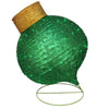 "36"" LED Lighted Twinkling Green Glitter Onion Ornament Christmas Outdoor Decoration"