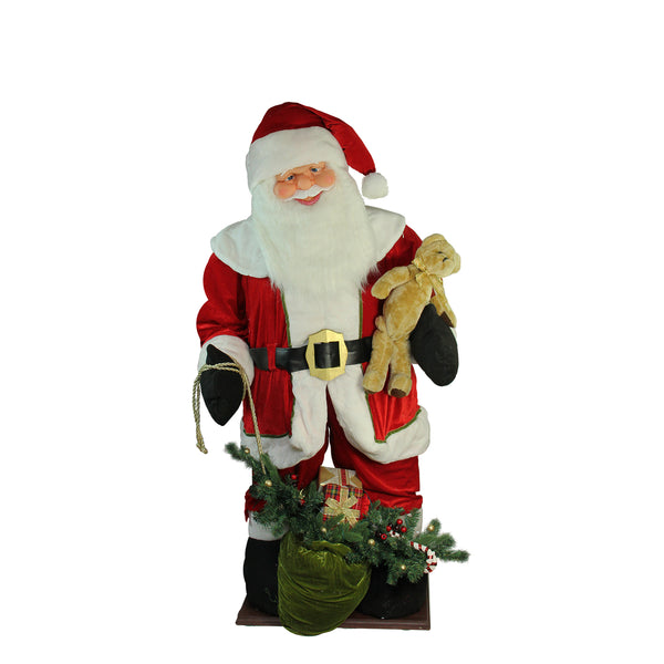 6' LED Lighted Musical Santa Claus with Gift Bag Christmas Inflatable Figurine
