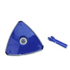 10.25 Blue and White Triangular Swimming Pool Vacuum Head with Swivel Cuff and Bumper