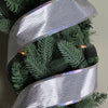 "Shimmery Silver Horizontal Wired Christmas Craft Ribbon 2.5"" x 10 Yards"