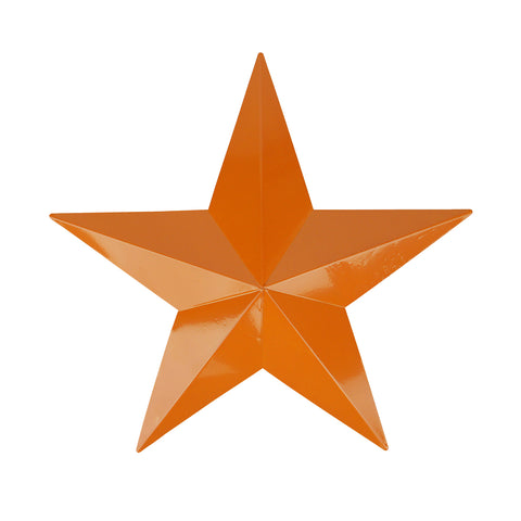 "15"" Burnt Orange Country Rustic Star Outdoor Patio Wall Decoration"