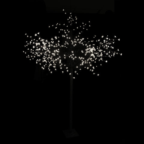 8' Multi-Function LED Lighted Cherry Blossom Flower Tree - Pure White Lights