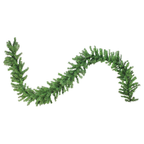 "100' x 12"" Green Commercial Length Canadian Pine Artificial Christmas Garland - Unlit"
