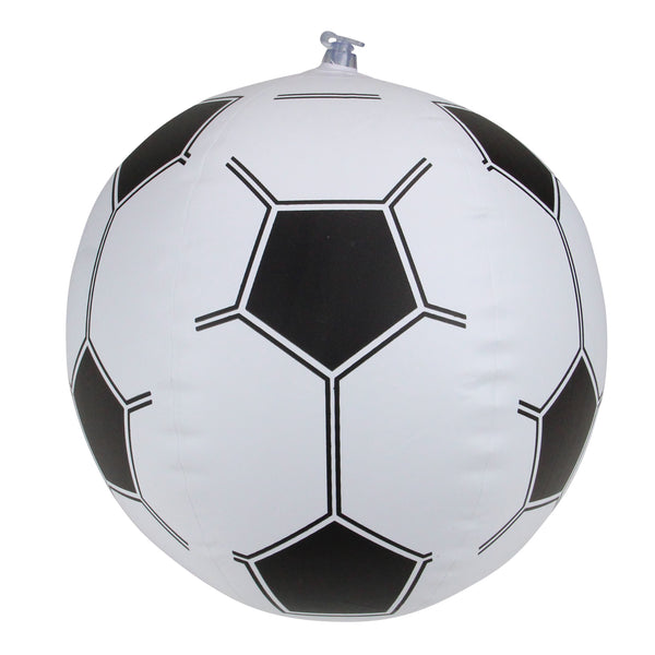 "16"" Black and White Inflatable Beach Soccer Ball Swimming Pool Toy"
