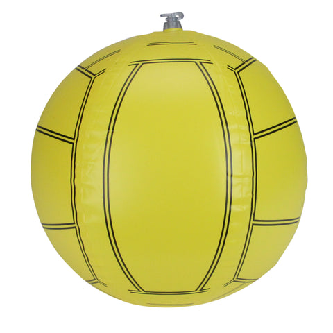 "16"" Yellow and Black 6-Panel Inflatable Beach Volleyball Toy"