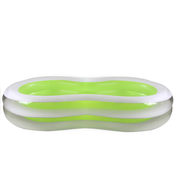 "94.5"" Green and White Inflatable Figure 8 Swimming Pool"