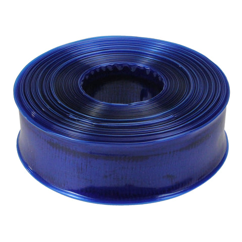 "100' x 1.5"" Transparent Blue Swimming Pool Filter Backwash Hose"