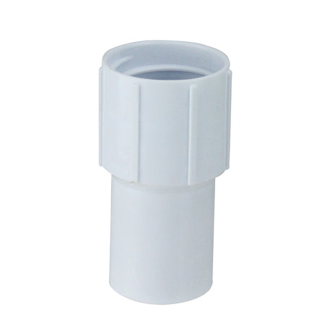 "3.5"" White Cuff for Swimming Pool or Spa 1.25"" Vacuum Hose"