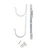 Set of 2 Silver Pole Hangers Swimming Pool and Spa Acessory 8.5""