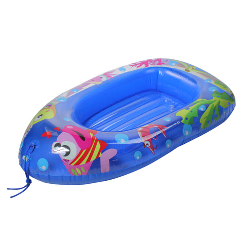 "44"" Inflatable Blue Sea Life Children's Swimming Pool Boat Raft Float"