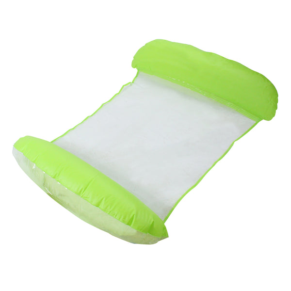 Inflatable Green and White Swimming Pool Lounger Float, 61-Inch