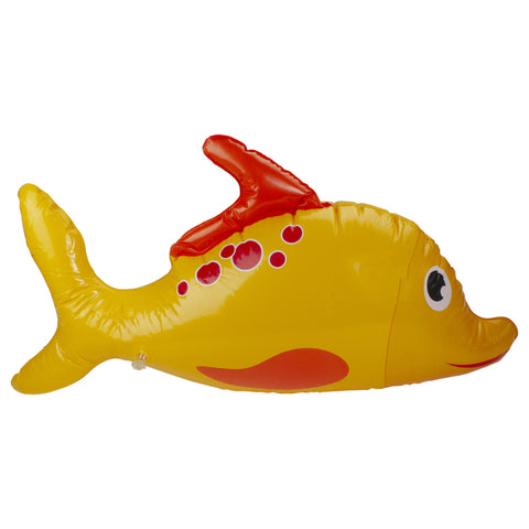 "34.5"" Yellow and Orange Dorado Fish Children's Inflatable Swimming Pool Kickboard"