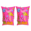 Set of 2 Inflatable Pink Sea World Swimming Pool Arm Floats, 10-Inch