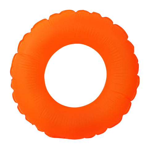 Inflatable Classic Round Neon Orange Swimming Pool Inner Tube Float, 30-Inch