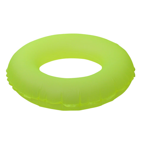 Inflatable Classic Round Neon Yellow Swimming Pool Inner Tube Float, 30-Inch