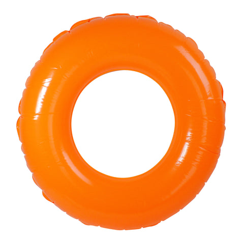 Inflatable Classic Round Orange Swimming Pool Inner Tube Ring Float, 35-Inch