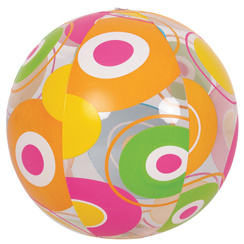 "20"" Inflatable Bright Circle Print Beach Ball Swimming Pool Toy"
