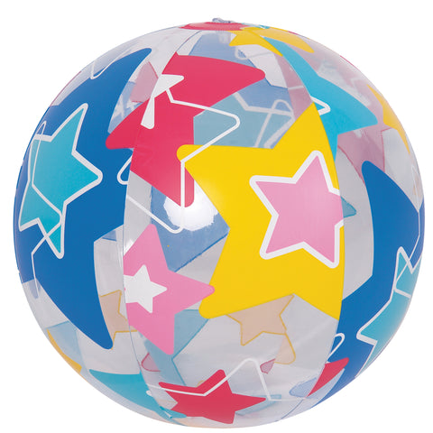 "20"" Inflatable Bright Star Beach Ball Swimming Pool Toy"