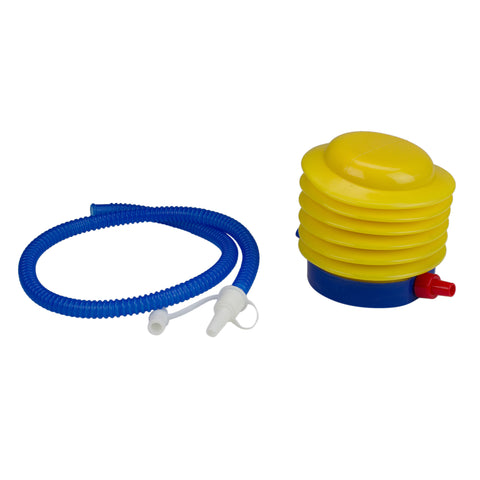 "8"" Yellow and Blue Bright Portable Foot Pump for Pool and Spa"