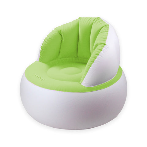 Green and White Inflatable Indoor/Outdoor Armchair
