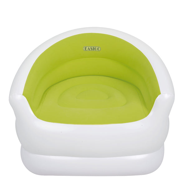"37"" White and Green Color-Splash Indoor/Outdoor Inflatable Lounge Chair"