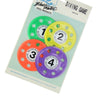 Set of 4 Vibrantly Colored Swimming Pool Diving Game Discs 4""