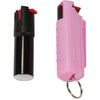 Pepper Spray with Hard Case Key Ring Belt Clip - Pink (0.5 oz)