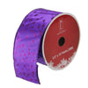 "Shimmering Purple Tree Wired Christmas Craft Ribbon 2.5"" x 10 Yards"