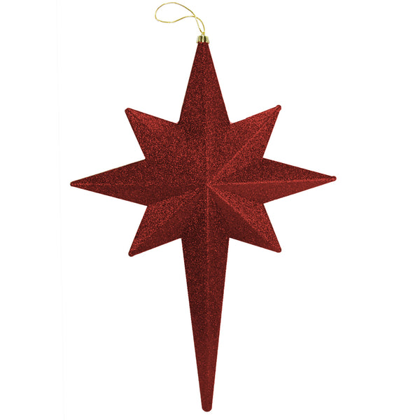 "20"" Burgundy Glittered Bethlehem Star Shatterproof Christmas Ornament"