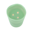 "8"" Sage Green Battery Operated Flameless LED Lighted 3-Wick Flickering Wax Christmas Pillar Candle"