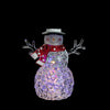 "8.5"" Battery Operated LED Lighted Snowman with Scarf and Top Hat"