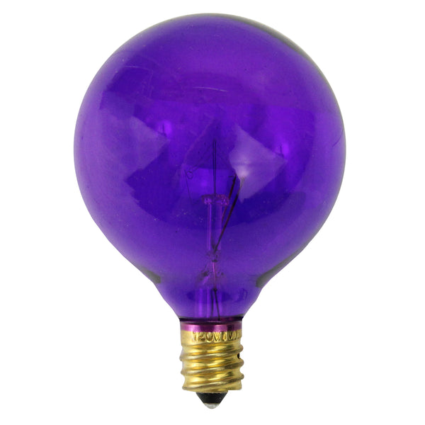 Pack of 25 Purple Transparent G50 Christmas Replacement Bulbs