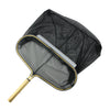 "19.75"" Black and Gold Heavy Duty Frame Leaf Pool Rake"
