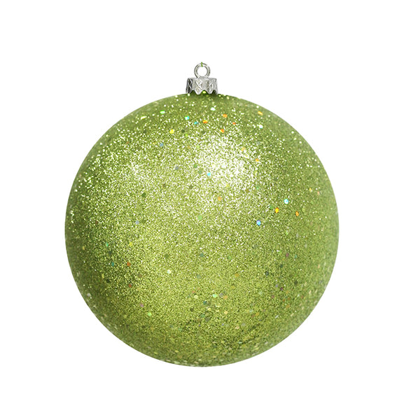 "Holographic Glitter Kiwi Green Shatterproof Christmas Ball Ornament 8"" (200mm)"