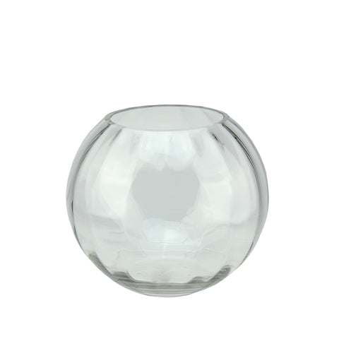 "8.75"" Clear Round Segmented Transparent Glass Decorative Bowl"