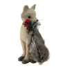 "13.25"" Holiday Moments Sitting Brown Fox with Tail Curled Christmas Decoration"