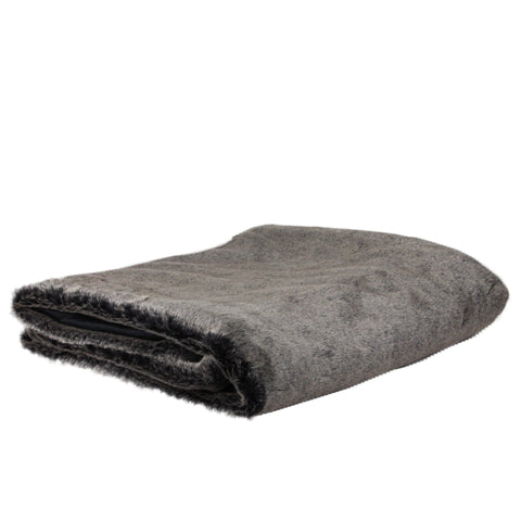"Charcoal Gray Solid Super Plush Fur Throw Blanket 50"" x 60"""