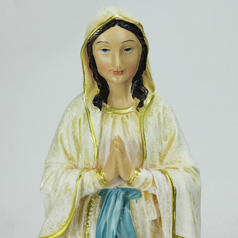 "12"" Distressed Blessed Mother Virgin Mary Religious Christmas Table Top Figure"
