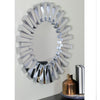 "25.5"" Silver Aztec Sunburst Round Mirror Wall Decor"