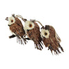 Pack of 3 Brown Owl Sisal Christmas Ornaments 3.75""