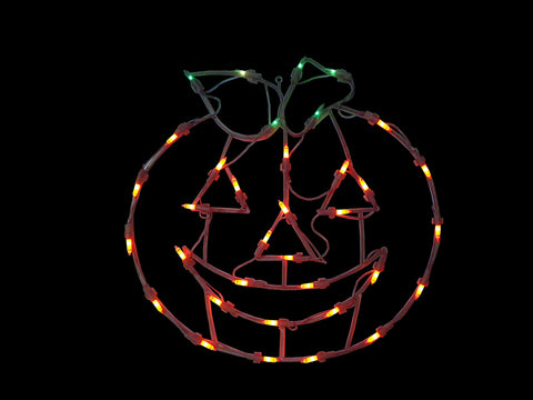 "14"" Lighted Jack-O-Lantern Halloween Double Sided Window Silhouette Decoration"