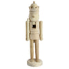 "14.5"" Traditional Unfinished Wood Paintable Nutcracker"