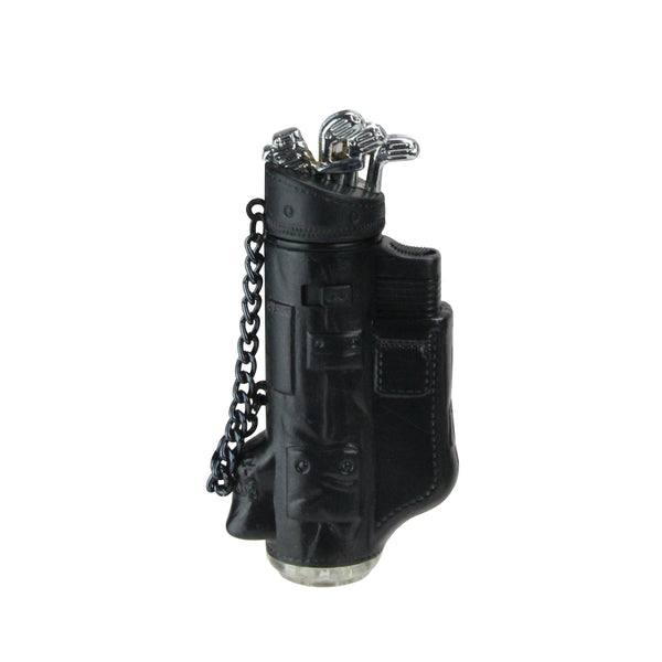 Black & Silver Golf Bag Blow Torch Refillable Versatile Lighter in Gift Box