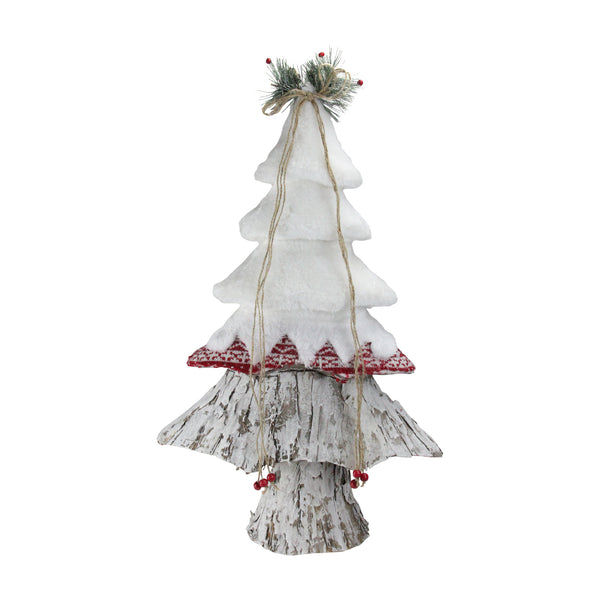 "22"" White, Red and Brown Christmas Tree Decoration"