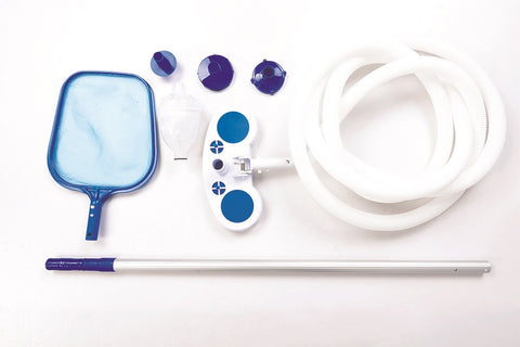 "1.25"" Blue Deluxe Swimming Pool Cleaning and Maintenance Kit"