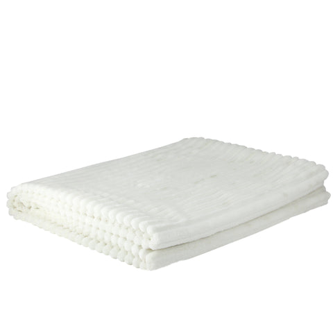 "Cream White Ultra Plush Micro Fleece Throw Blanket 50"" x 60"""