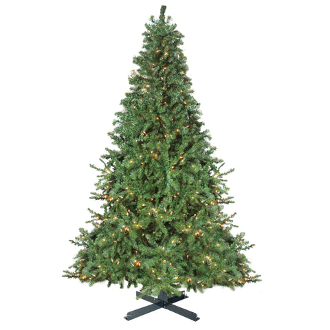 15' Pre-Lit Canadian Pine Commercial Artificial Christmas Tree - Warm White Lights