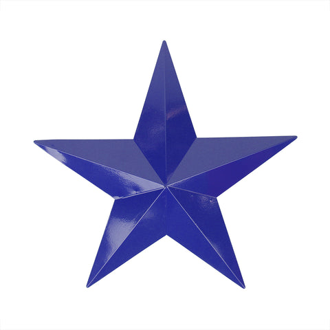 "11.5"" Navy Blue Country Rustic Star Outdoor Patio Wall Decoration"
