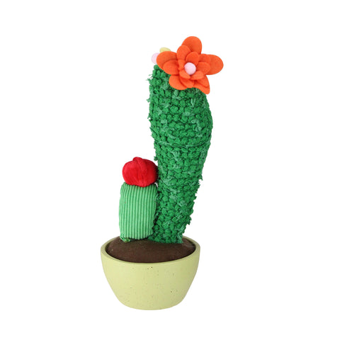 "12"" Green Potted Mixed Artificial Plush Cactus Plant"