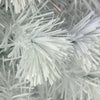 4' Pre-Lit Medium White Iridescent Fiber Optic Artificial Christmas Tree - Blue LED Lights